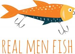 Real Men Fish print art