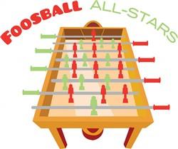 Foosball All-Stars print art
