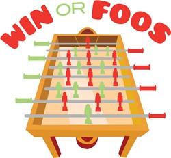 Win Or Foos print art