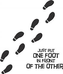 One Foot print art