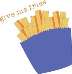 Give Me Fries print art