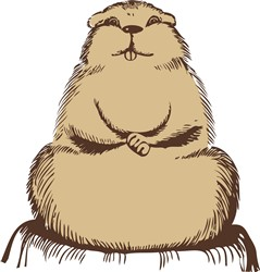 Beaver print art