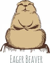 Eager Beaver print art