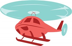 Helicopter print art