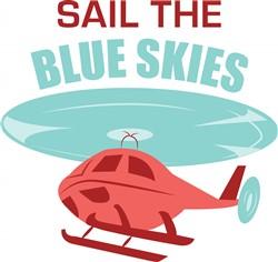 Blue Skies print art