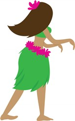 Hula Girl print art