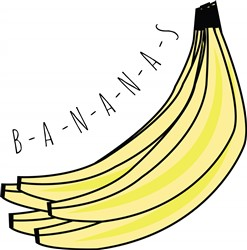 Bananas print art