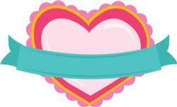 Heart Banner print art