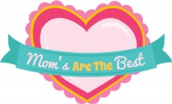 Best Mom Heart print art