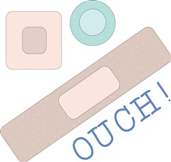 Ouch Bandages print art