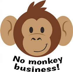 No Monkey Business print art