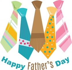 Fathers Day Ties print art