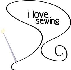 I Love Sewing print art