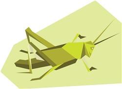 Origami Cricket print art