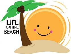 Life on the Beach print art