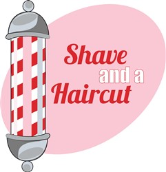 Shave and a Haircut print art