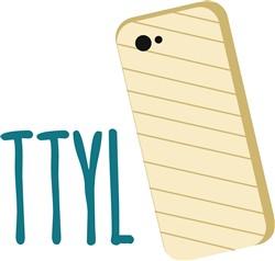 TTYL Phone print art