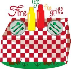 Fire Grill print art