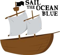 Sail the Ocean Blue print art
