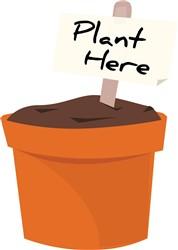 Plant Here print art