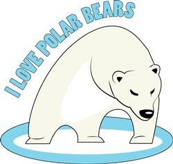 Love Polar Bears print art