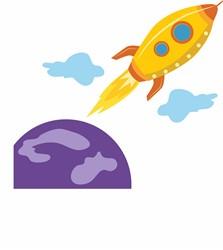 Planet Rocket print art