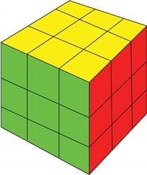 Rubik Cube print art