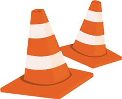 Safety Cones print art
