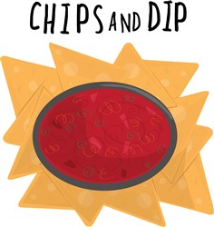 Chips and Dip print art