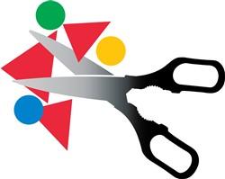 Scissors Shapes print art