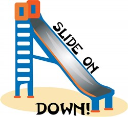Slide on Down print art