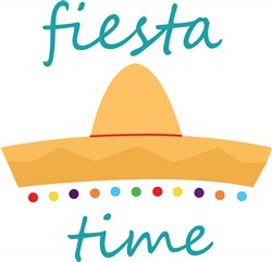 Fiesta Time Hat print art