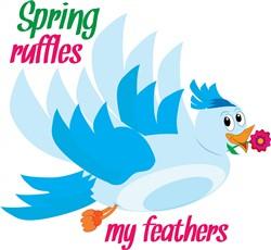 Spring Ruffles print art