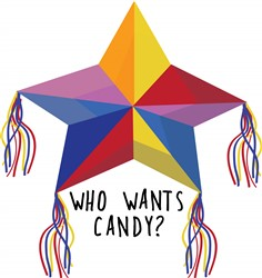 Who Wants Candy Pinata print art