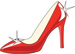 High Heeled Shoe print art