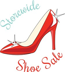 Storewide Shoe Sale print art