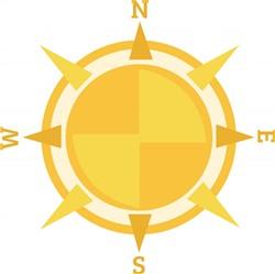 Direction Compass print art