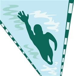 Lap Swimmer print art