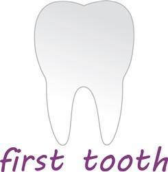 First Tooth print art