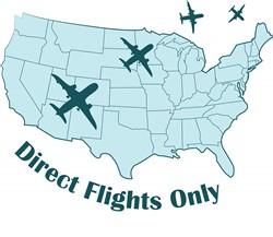 Direct Flights print art