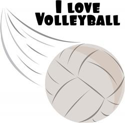 Love Volleyball print art