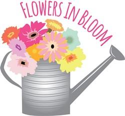 Flowers in Bloom print art