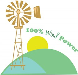 100% Wind Power print art