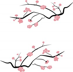 Japanese Cherry Blossoms print art