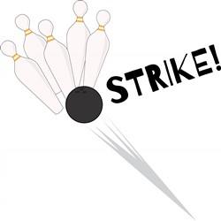 Bowling Strike print art