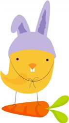 Easter Chick Bunny print art