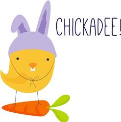 Easter Chickadee print art