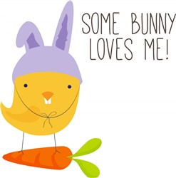 Some Bunny Loves Me! print art