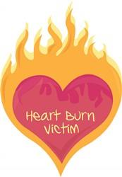 Heart Burn Victim print art
