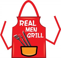 Real Men Grill print art